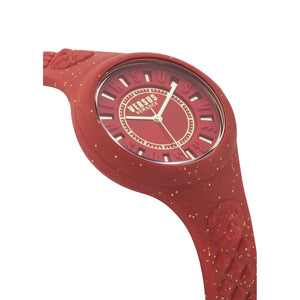 RED FIRE ISLAND GLITTER WATCH