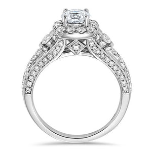 DIAMOND HALO ENGAGEMENT RING RG58577