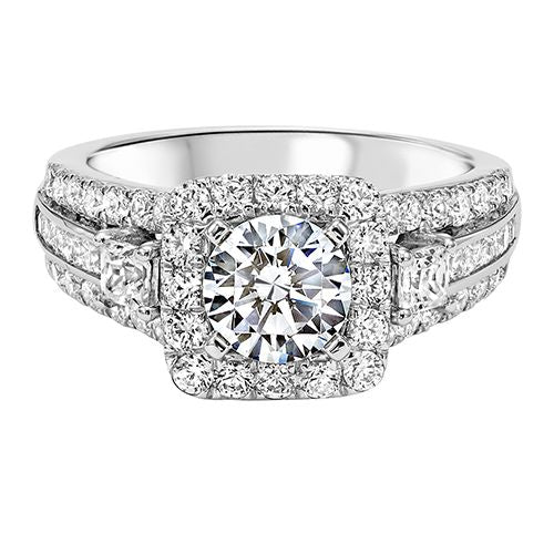 DIAMOND HALO ENGAGEMENT RING RG54790