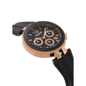 BLACK LOGO CHRONO WATCH