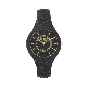 BLACK FIRE ISLAND GLITTER WATCH