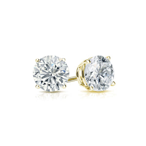 DIAMOND STUDS ON YELLOW GOLD, QUARTER CARAT