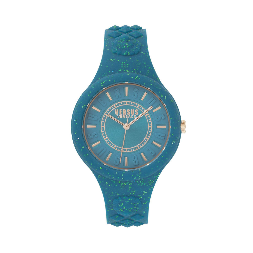 GREEN FIRE ISLAND GLITTER WATCH 4678d00a5