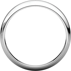 HALF ROUND TAPERED MEN'S SILVER WEDDING RING