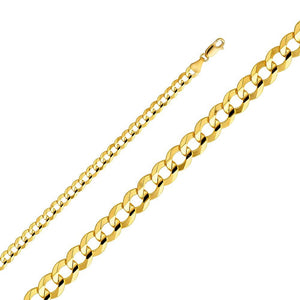 SOLID 14KT YELLOW GOLD CUBAN CHAIN