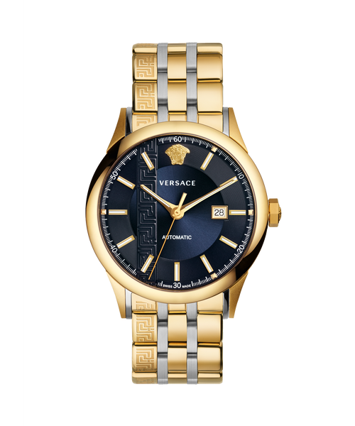 GOLD TONED AIAKOS AUTOMATIC WATCH - XSJewelers
