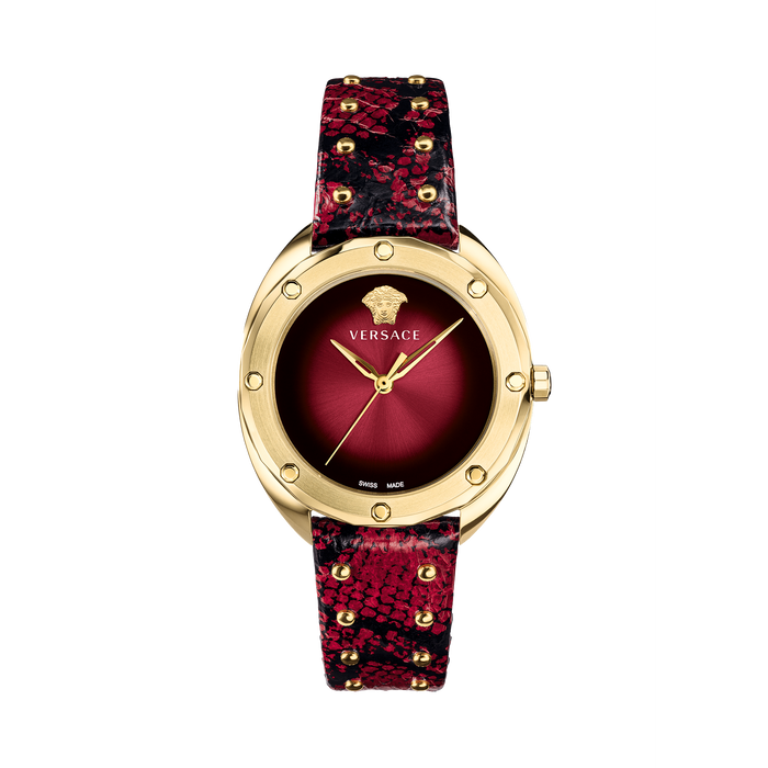 RED LEATHER SHADOV WATCH