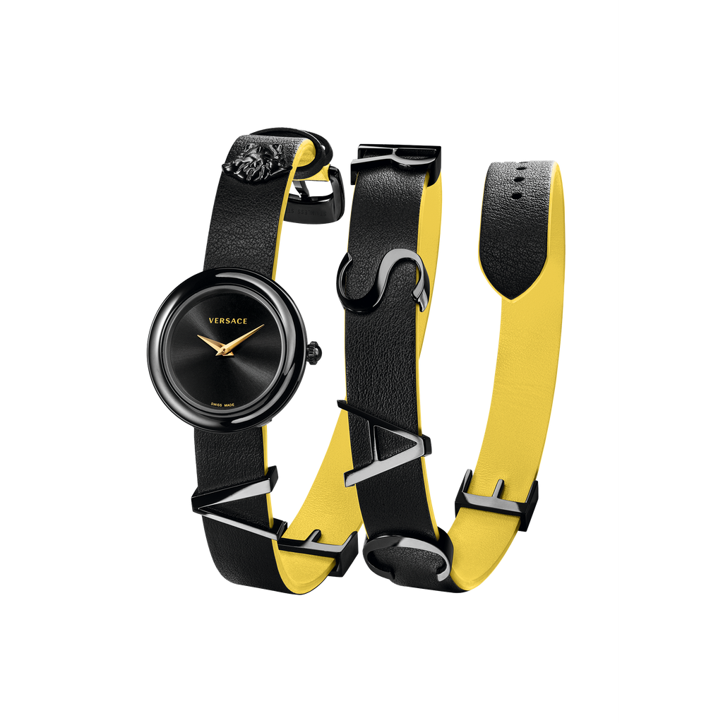 BLACK YELLOW V-FLARE WATCH