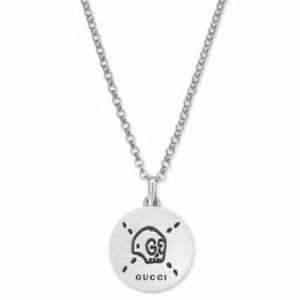GUCCI GHOST SILVER CIRCLE NECKLACE
