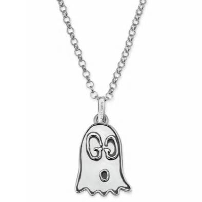 aceea7342 GUCCI GHOST LARGE SILVER NECKLACE