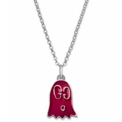 GUCCI GHOST RED SILVER NECKLACE - XSJewelers