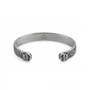 GUCCI GARDEN SILVER FELINE BANGLE