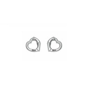 GUCCI SILVER BAMBOO HEART EARRINGS