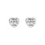 GUCCI SILVER B.F.L. HEART EARRINGS