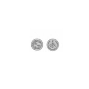 GUCCI SILVER COIN EARRINGS
