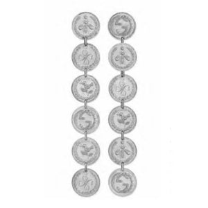 GUCCI SILVER DANGLE COIN EARRINGS