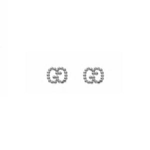GUCCI SILVER GG BOULE EARRINGS