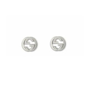 GUCCI SILVER GG MILIGRAIN EARRINGS