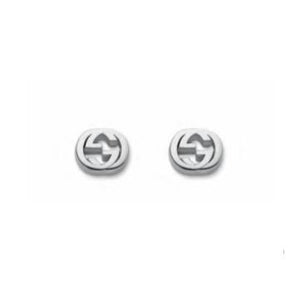 GUCCI SILVER GG POLISHED EARRINGS