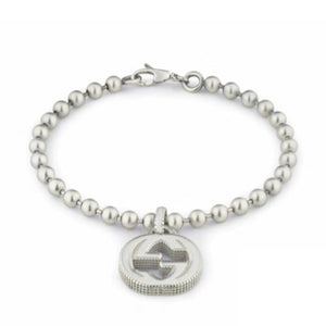 GUCCI SILVER INTERLOCKING MILIGRAN BRACELET