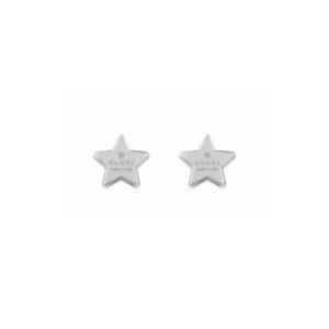 GUCCI SILVER TRADEMARK STAR EARRINGS