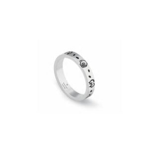 GUCCI GHOST THIN SILVER RING