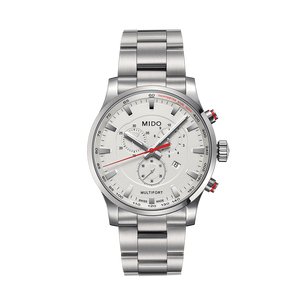 STEEL MULTIFORT QUARTZ WHITE FACE - XSJewelers