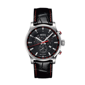 LEATHER MULTIFORT QUARTZ BLACK FACE - XSJewelers
