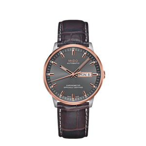 LEATHER COMMANDER CHRONOMETER GRAY ROSE - XSJewelers