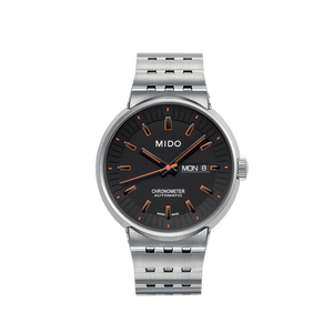 STEEL ALL DIAL CHRONOMETER GRAY ORANGE - XSJewelers
