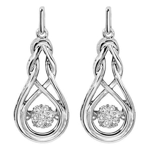 RHYTHM OF LOVE SILVER DIAMOND EARRINGS ROL1020