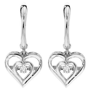 RHYTHM OF LOVE SILVER DIAMOND EARRINGS ROL2045