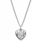 SILVER BLIND FOR LOVE HEART NECKLACE