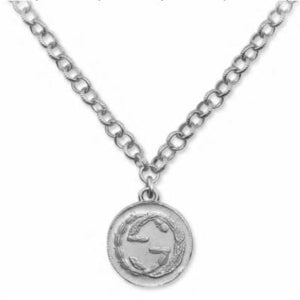 SILVER INTERLOCKING G COIN PENDANT