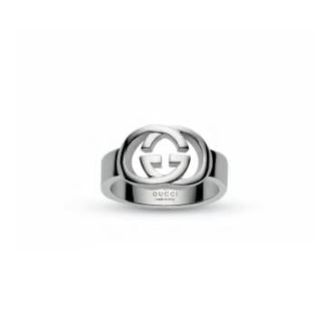 GUCCI SILVER GG 5mm POLISHED RING