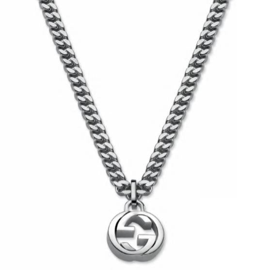 SILVER INTERLOCKING G MEN'S NECKLACE