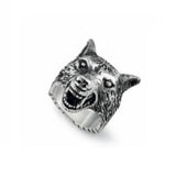 GUCCI SILVER WOLF RING