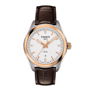 LADY BROWN LEATHER PR 100 WHITE FACE - XSJewelers