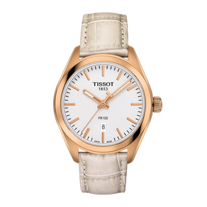 LADY WHITE LEATHER PR 100 WHITE FACE - XSJewelers