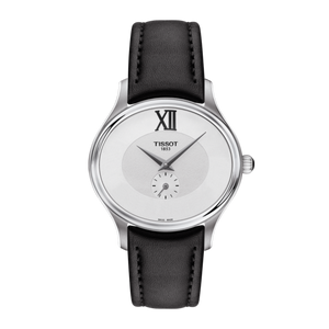 BLACK LEATHER BELLA ORA WHITE FACE - XSJewelers