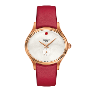 RED LEATHER BELLA ORA WHITE FACE - XSJewelers
