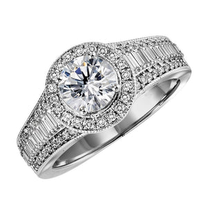 ELEGANCE COLLECTION: DIAMOND HALO ENGAGEMENT RING WB6013E
