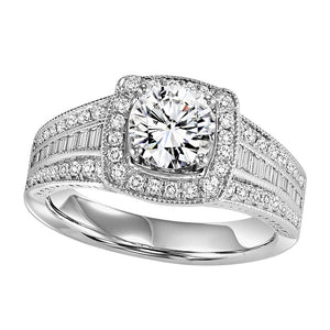 ELEGANCE COLLECTION: DIAMOND HALO ENGAGEMENT RING WB6014E