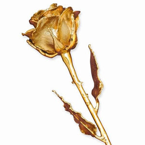 24K YELLOW GOLD DIPPED ROSE
