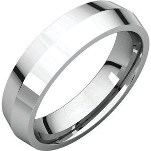 KNIFE EDGE MEN'S SILVER WEDDING RING