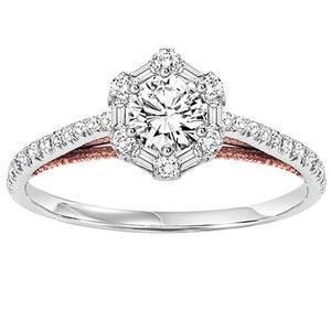 PASSION COLLECTION: DIAMOND HALO ENGAGEMENT RING WB6089E