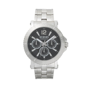 BLACK DIAL SILVER STEENBERG WATCH