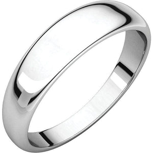 HALF ROUND TAPERED MEN'S 18KT GOLD WEDDING RING