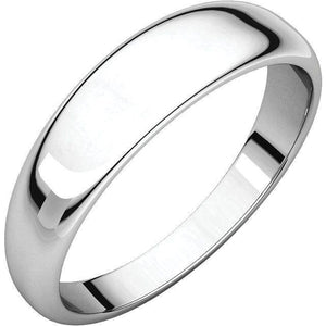HALF ROUND TAPERED MEN'S PLATINUM WEDDING RING