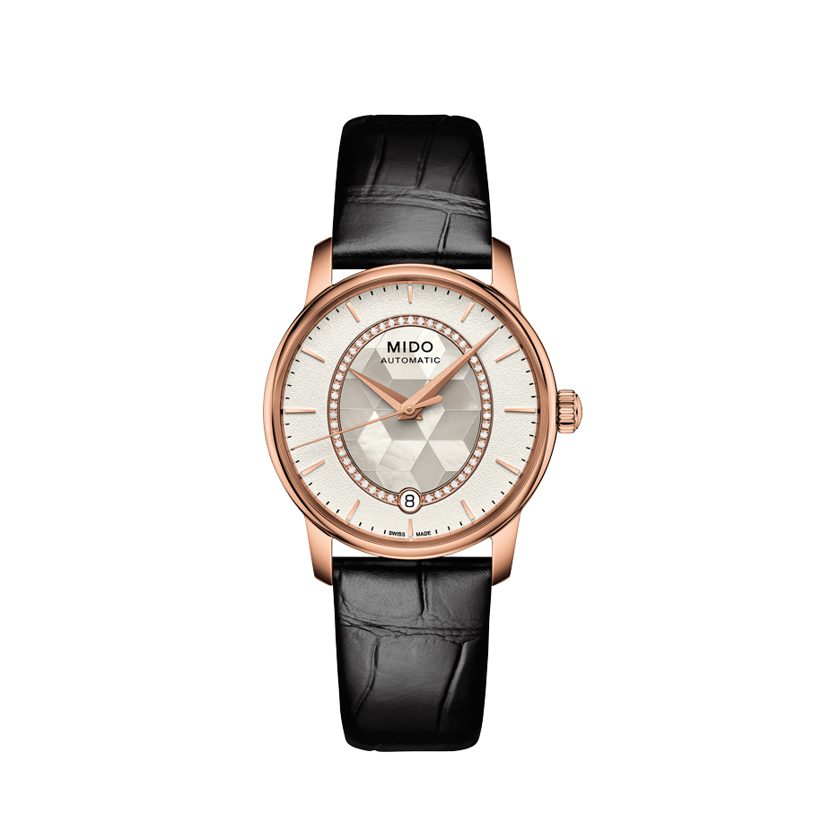 LADY LEATHER BARONCELLI PRISMA AUTO WHITE ROSE